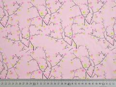 Baumwolle Batist Zweige Blüten (Kombi Little Geisha), rosa