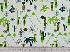 Jersey Erdmännchen Palmen, hellgrün