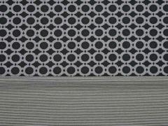 RESTSTÜCK 33 cm Doubleface Viskosejersey Kringel grau schwarz