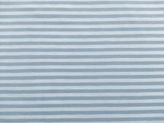 Jersey Streifen, eisblau-weiß