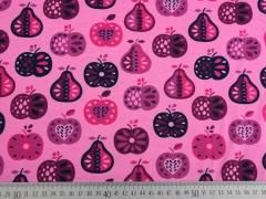 RESTSTÜCK 70 cm Jersey Früchte, rosa