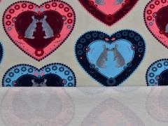 French Terry Hasen & Herzen Bunny Love, beige