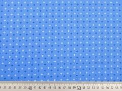 Baumwolle Mini Kreuzblume, hellblau