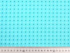Baumwolle Mini Kreuzblumen, mint