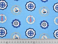 Jersey Buttons Leuchttürme & Segelboote, hellblau