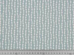 Dekostoff Grafisches Muster, weiß dunkelmint
