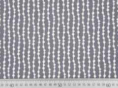 Dekostoff Grafisches Muster, weiß grau