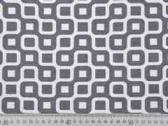 Dekostoff Labyrinth, weiß/grau