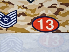 French Terry Air Force Camouflage, beige