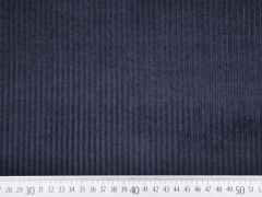 Breitcord Stoff uni, nachtblau