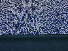 Leichter Punto di Roma grafisches Muster Animalprint, dunkelblau cognac