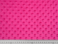 Minky Fleece Punkte,  hot pink