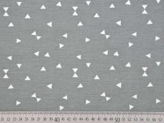 Dekostoff mit Dreiecken, grau