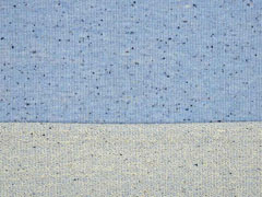 RESTSTÜCK 24 cm French Terry Sweat Konfetti Punkte hellblau