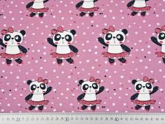 RESTSTÜCK 35 cm Jersey Panda Girl, altrosa