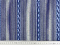 Dickerer Stoff Mexiko gemusterte Streifen, blau