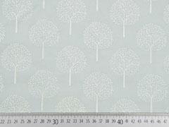 RESTSTÜCK 62 cm Batist Bäume Trees, mint