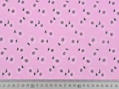 Baumwollstoff Batist  kleine Sonnenblumen, rosa