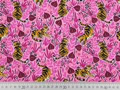 Jersey Tiger florales Muster, rosa