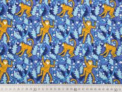 Jersey Affen Blätter, jeansblau