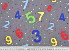 RESTSTÜCK 80 cm Jersey Zahlen Punkte, grau