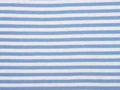 Bündchen Streifen 7mm garngefärbt, hellblau