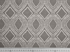 Leinenlook graphisches Muster, taupe