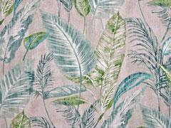 Half Panama tropische Blätter, grün beige