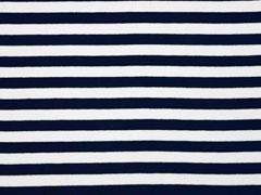 Viskosejersey Streifen 1 cm garngefärbt,dunkelblau