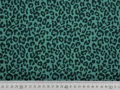 Jersey Leoparden Muster, petrol