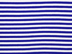 Bündchen Streifen 7 mm garngefärbt, royalblau