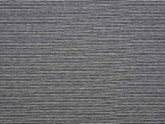 RESTSTÜCK 40 cm Jersey Streifen 1 mm Garn gefärbt, schwarz