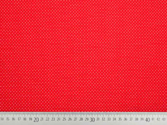 Jersey Mini Punkte, rot weiss