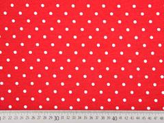 RESTSTÜCK 15 cm Jersey Punkte 4 mm, rot weiss