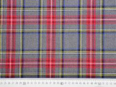 Wool Touch Schottenkaro, rot gelb grau