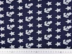 Sweat Alpenfleece Sterne Anker, dunkelblau