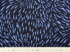Sweat Alpenfleece grafisches Muster, dunkelblau