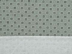 RESTSTÜCK 32 cm French Terry Sweat Viskose Blumenräder, mint