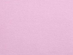Baumwollfleece uni, Baby Rosa