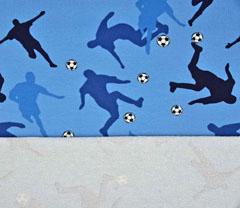 French Terry Sweat Fussballer, blau