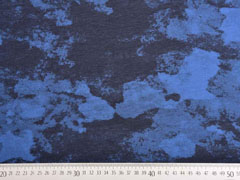 RESTSTÜCK 37 cm Jersey Camouflage Optik, jeansblau