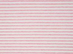 Jersey Streifen garngefärbt angeraut, rosa melange