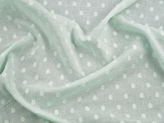 Baumwollstoff Voile gewebte Punkte, hellgrün