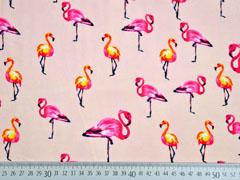Viskose Flamingos, apricot