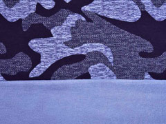French Terry Sweat Viskose Camouflage, blau