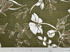 Baumwolle Viskose Blumenblätter, khaki