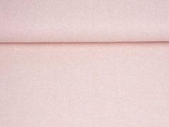 RESTSTÜCK 36 cm Leinen Viskose uni, lachsrosa meliert