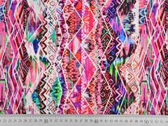 Jersey Ibiza-Style Digitaldruck, rosa bunt