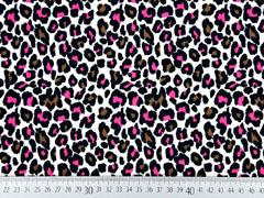 Jersey Leopardenmuster, schwarz pink beige
