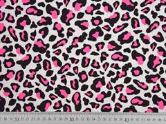 Jersey Leopardenmuster, neonpink schwarz weiß
